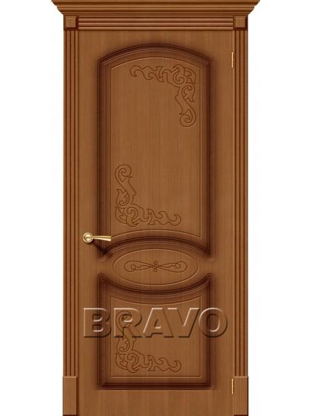 Межкомнатная дверь Азалия, Ф-11 (Орех)
