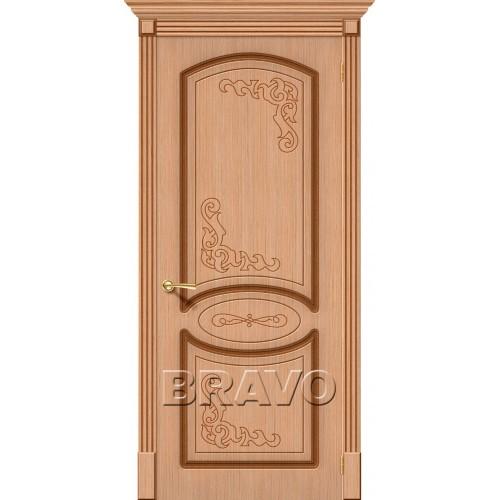 Межкомнатная дверь Азалия, Ф-01 (Дуб)