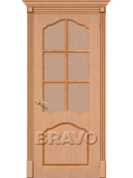 Межкомнатная дверь Каролина, Ф-01 (Дуб)