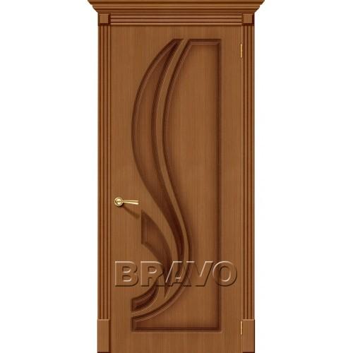 Межкомнатная дверь Лилия, Ф-11 (Орех)