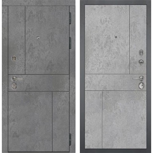 Входная металлическая дверь Дива МД-48 М-1 (Бетон Темный / Бетон Светлый)