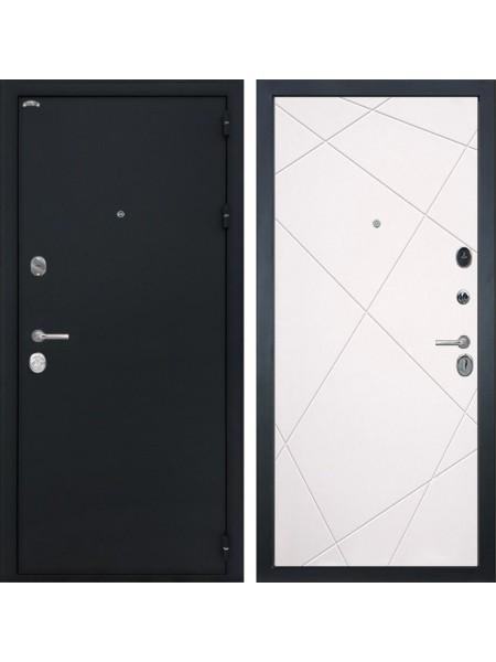 Входная стальная дверь Интекрон Колизей Лучи-М (Черный шелк / Софт Милк)