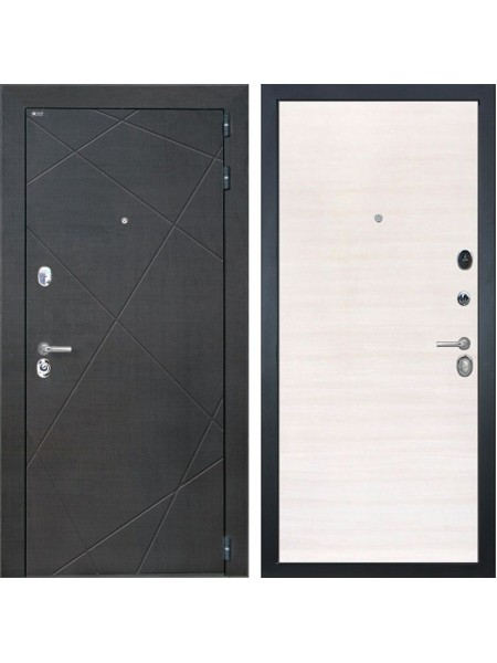 Входная металлическая дверь Интекрон Сенатор Лучи (Венге распил кофе / Дуб сильвер)