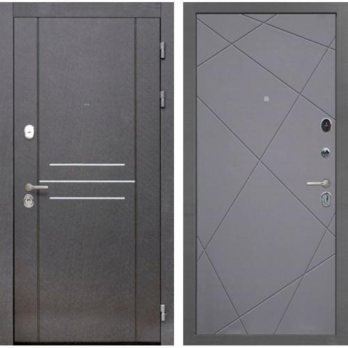 Входная металлическая дверь Интекрон Сенатор Лофт Лучи-М (Софт Графит)