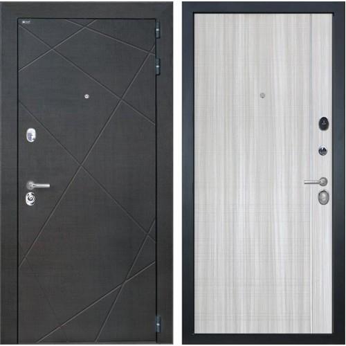 Входная металлическая дверь Интекрон Сенатор Лучи L-5 (Венге распил кофе / Сандал белый)