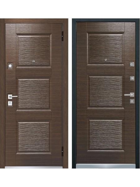 Входная металлическая дверь Mastino Monte (Line 3) Темный венге / Темный венге