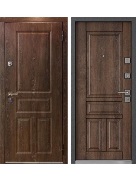 Входная металлическая дверь Mastino Monte MS-42 (Дуб шале морёный / Дуб шале морёный)