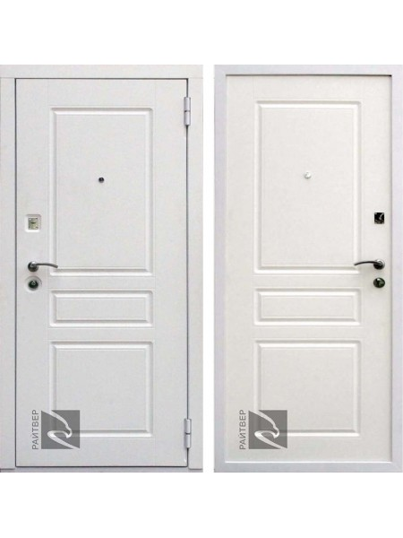 Входная металлическая дверь Райтвер Х4 (Белый матовый / Белый матовый)