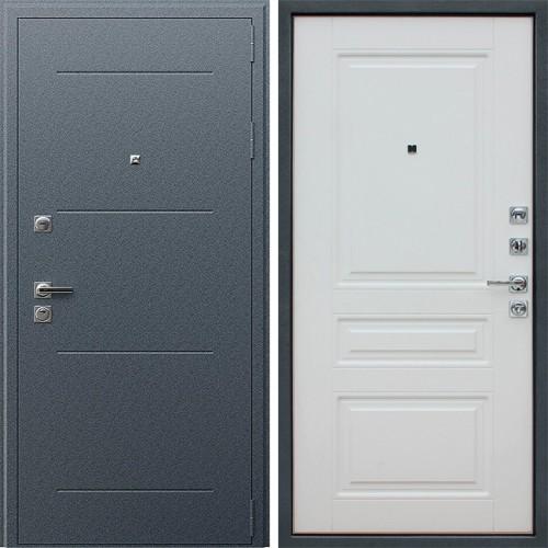 Металлическая входная дверь АСД Техно 91 U Белый матовый