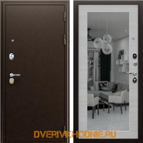 Металлическая входная дверь Спартак с зеркалом