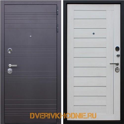 Металлическая входная дверь  «Дуэт» Белая лиственница
