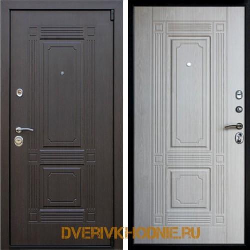 Металлическая входная дверь «Викинг (без зеркала)» Беленый дуб