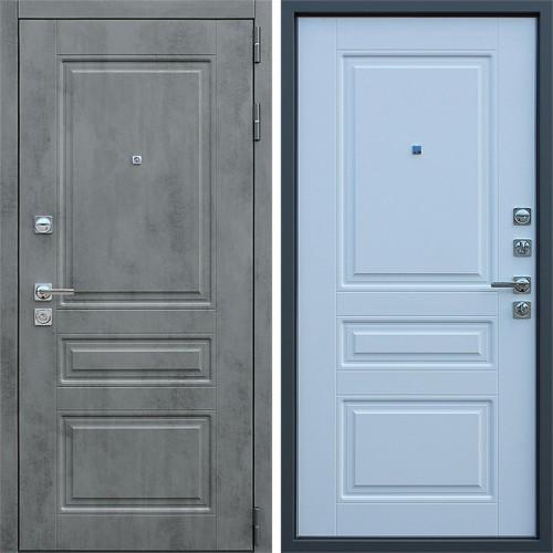 Металлическая входная дверь «Лира» Белый матовый