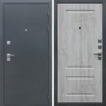 Уличная входная стальная дверь с терморазрывом АСД Север 3К (Букле графит / Сосна белая)