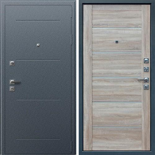 Металлическая входная дверь АСД Техно XN 99 Дуб сонома светлый
