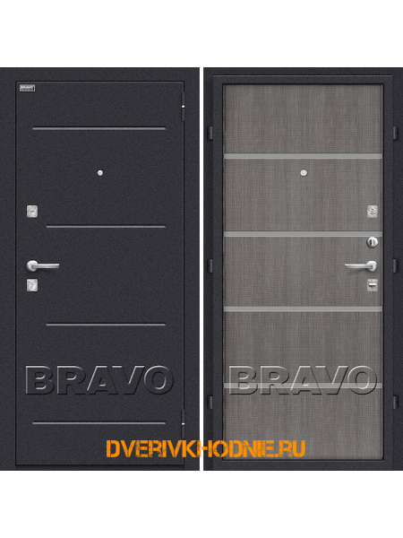 Дверь Bravo Лайн Grey Crosscut