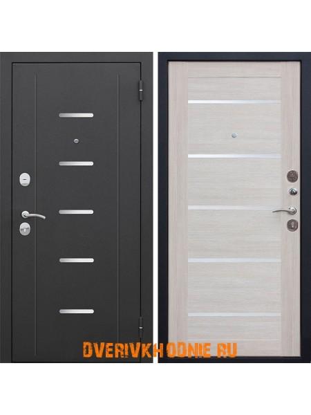 Металлическая входная дверь Цитадель 7,5 см Гарда Муар / Лиственница беж