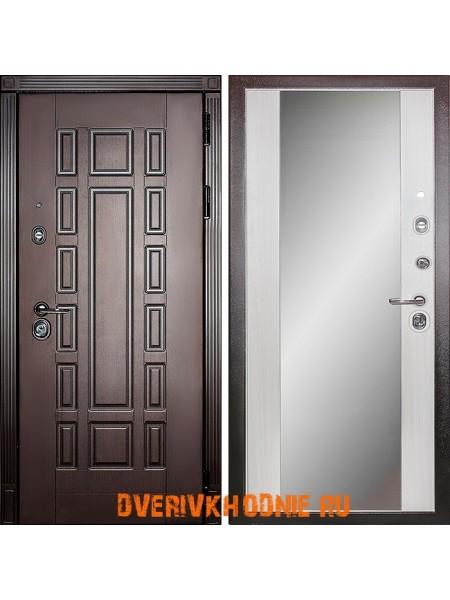 Металлическая входная дверь Дива  МД-38 с зеркалом