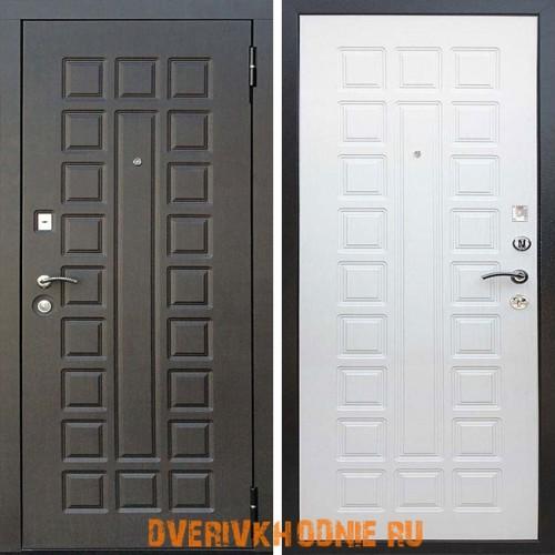 Металлическая входная дверь Райтвер Сенатор Life Венге / Беленый дуб