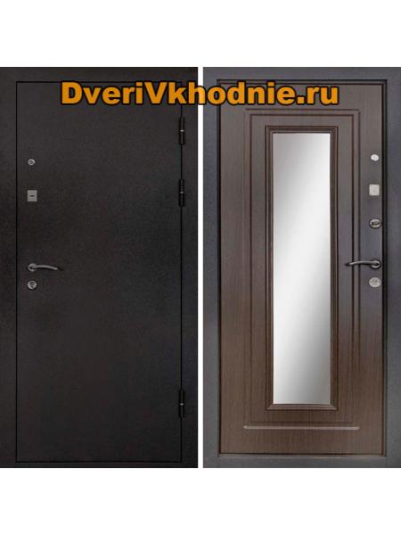 Металлическая входная дверь Райтвер Престиж Венге с зеркалом