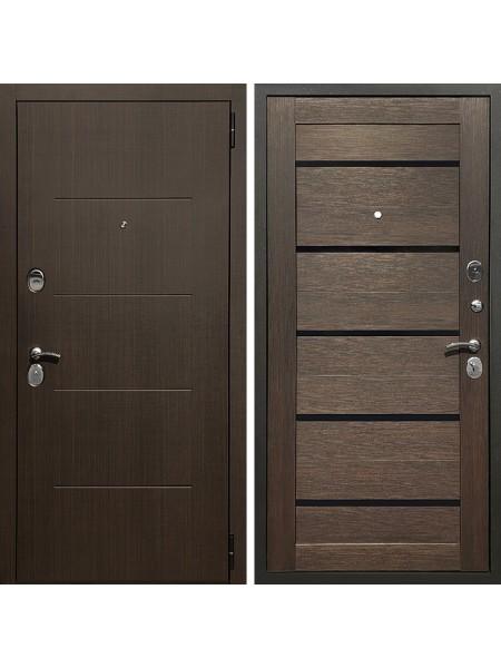 Металлическая входная дверь Престиж Люкс Арабика/Орех темный