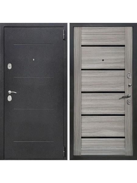 Металлическая входная дверь Престиж Люкс Дуб Дымчатый