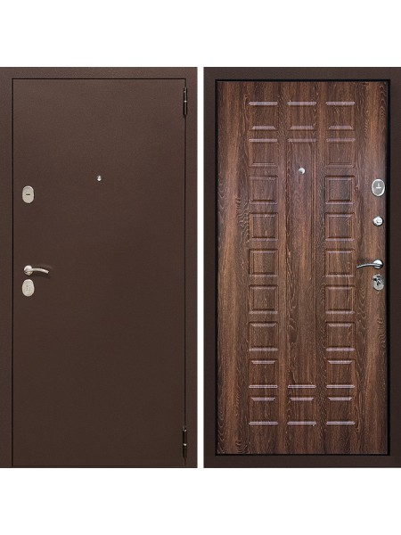 Металлическая входная дверь Престиж 100 Дуб Коньячный