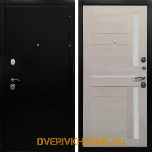 Металлическая входная дверь Ратибор Авангард 3К Лиственница беж