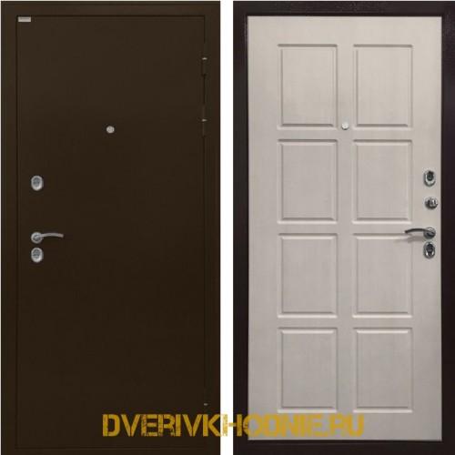 Металлическая входная дверь Ратибор Термоблок 3К Лиственница беж