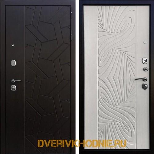 Металлическая входная дверь Ратибор Витраж 3К Лиственница