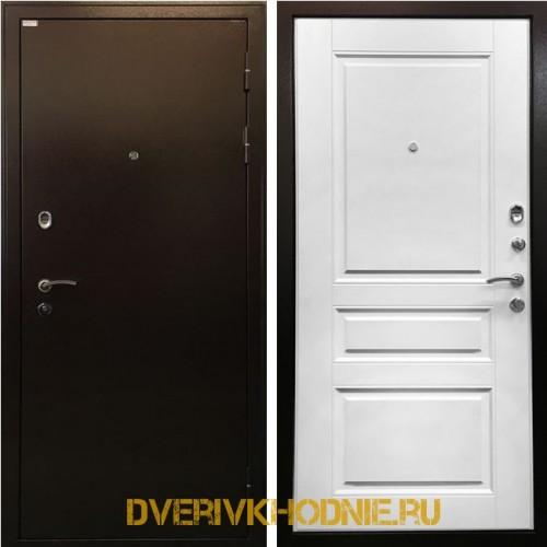 Входная дверь в квартиру Ратибор Статус белый ясень