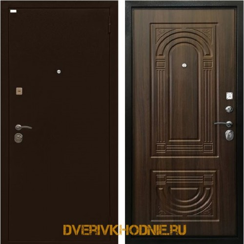 Металлическая входная дверь Ратибор Оптима 3К Орех бренди