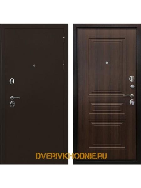Металлическая входная дверь Ратибор Троя 3К Орех бренди