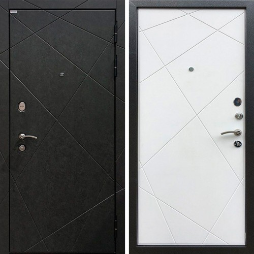 Металлическая входная дверь Ратибор Эстет 3К силк сноу