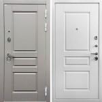 Металлическая входная дверь Ратибор Лондон 3К Грей софт/Белый софт