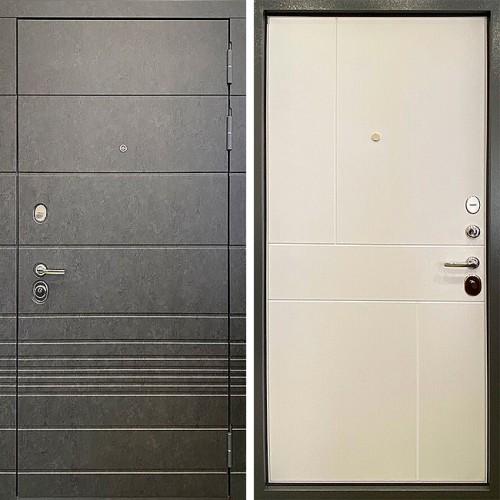 Металлическая входная дверь Ратибор Мегаполис 3К Силк сноу