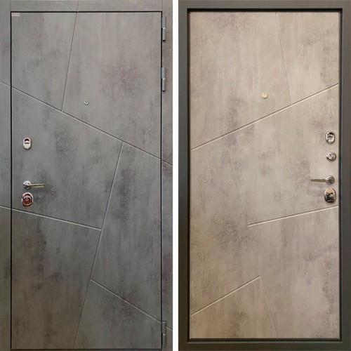 Металлическая входная дверь Ратибор Орион  3К Бетон темный/Бетон светлый