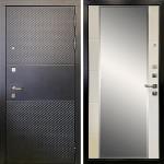 Металлическая входная дверь Ратибор Прима 3К Зеркало Матовый белый