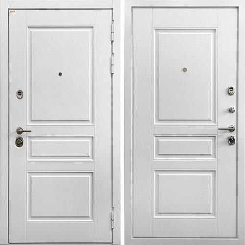 Металлическая входная дверь Ратибор Сноу 3К Матовый Белый