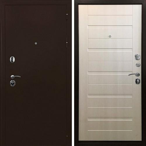 Металлическая входная дверь Ратибор Тренд 3К Лиственница беж