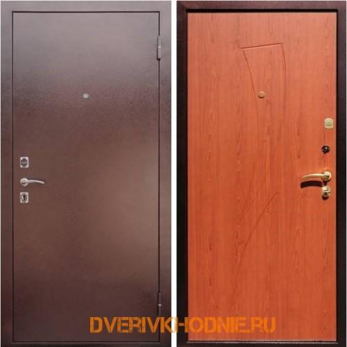 Металлическая входная дверь Рекс 1 Парус Клен красный