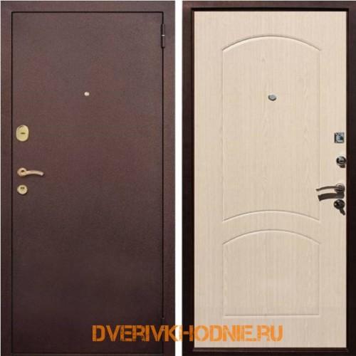 Металлическая входная дверь Рекс  1А Беленый дуб