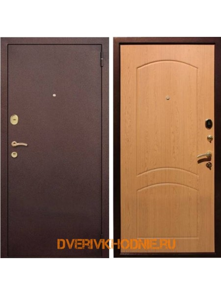 Металлическая входная дверь Рекс 1А Дуб светлый