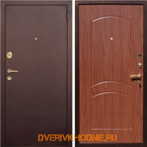 Металлическая входная дверь Рекс 1А Орех