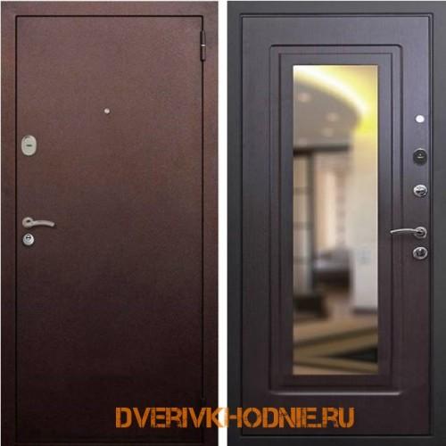 Металлическая входная дверь Рекс 1А Зеркало Венге