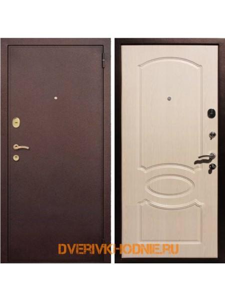 Металлическая входная дверь Рекс 2 Беленый дуб