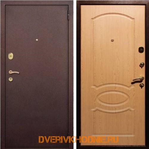 Металлическая входная дверь Рекс 2 Дуб светлый