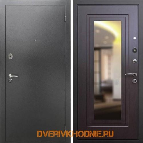 Металлическая входная дверь Рекс 2А Зеркало Венге