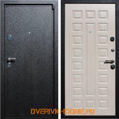 Металлическая входная дверь Рекс 3 Беленый дуб