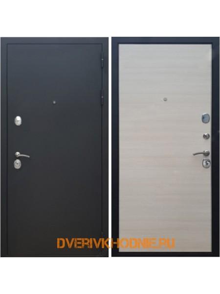 Металлическая входная дверь Рекс 5 Акация светлая поперечная
